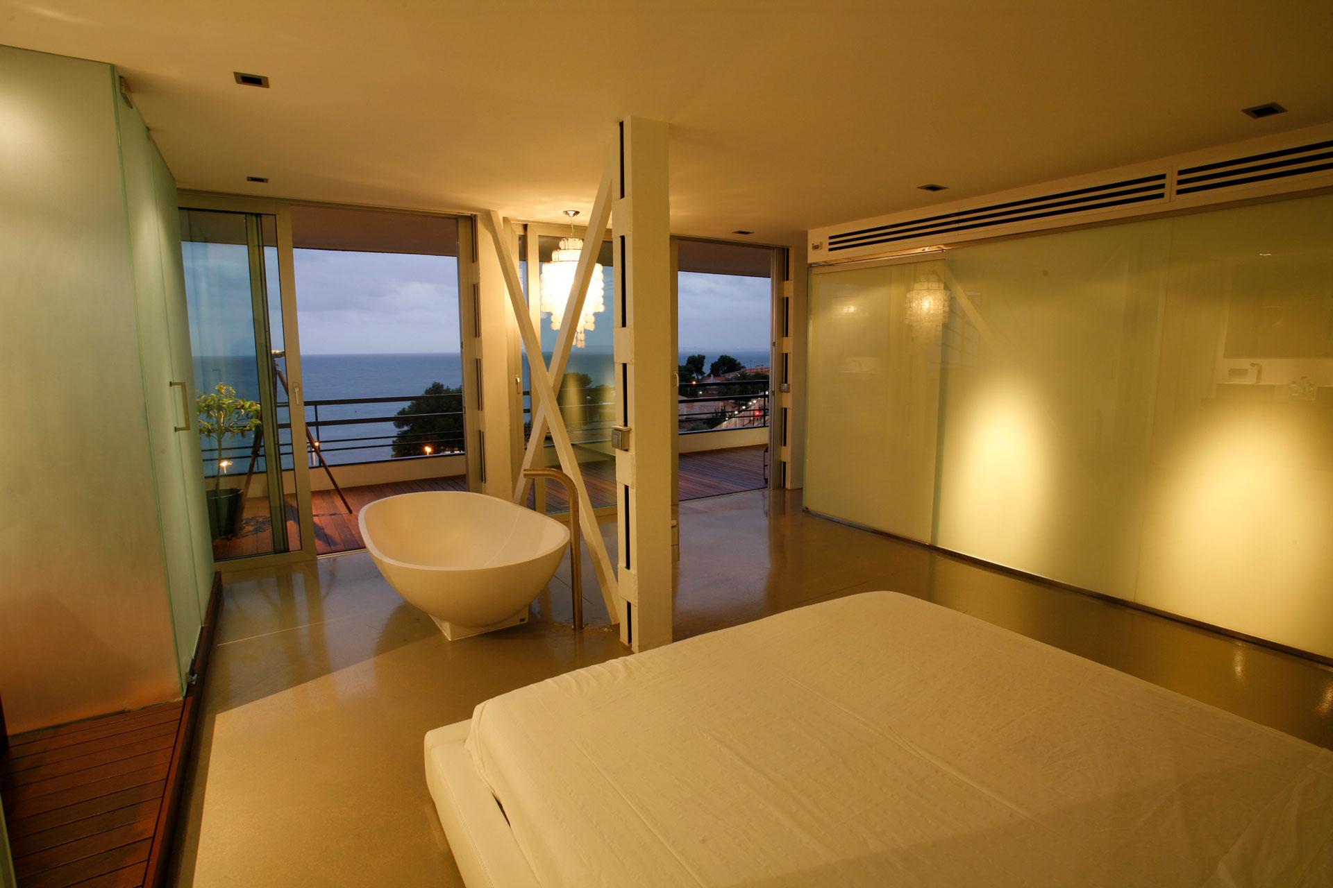 Proyecto arquitectónico en la Albufereta de Alicante. Detalle dormitorio