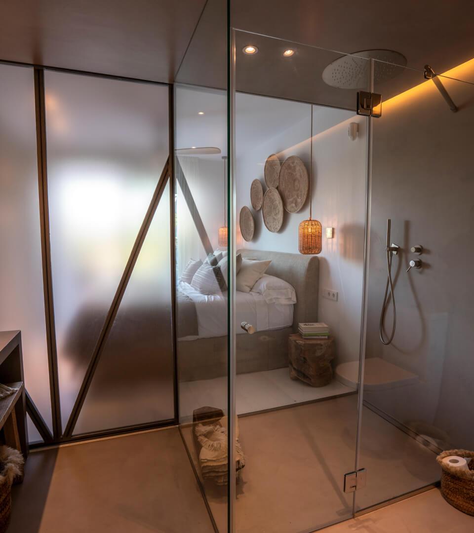 Proyecto interiorismo. La casa del lago baño dormitorio
